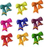 Bow of multicolored with lag royalty free stock image