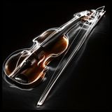 Bow, Music, Painting With Light Royalty Free Stock Photography