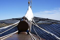 Bow Net on a Tall Sailing Ship Royalty Free Stock Photography
