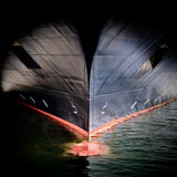 Bow Of A Large Ship Stock Image