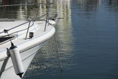 Free Bow Of A White Boat. Stock Images - 141634614