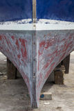 Bow on old fishing boat. Stock Images