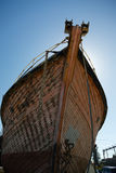 Bow of old timber boat Royalty Free Stock Images