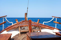 The bow of old wood ship Royalty Free Stock Images