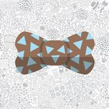 Bow On Cartoon Doodle Hipster Seamless Pattern Stock Images