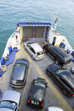 Bow of Passenger and Vehicle Ferry Royalty Free Stock Images