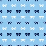 Bow pattern on blue background. royalty free illustration