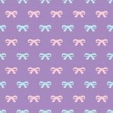 Bow pattern on purple background. stock illustration