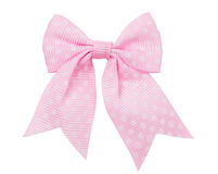 Bow, pink in white peas Stock Photography