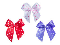 Bow with  polka dot pattern Royalty Free Stock Image