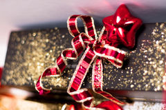 Bow on present Royalty Free Stock Images