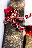 Bow on present Royalty Free Stock Image