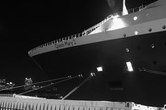 The bow of the Queen Mary 2, in Sydney, Australia. Stock Photos