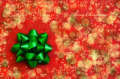 Bow on the red background - holiday concept Stock Image