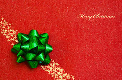 Bow on the red background - holiday concept Stock Photography