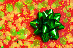 Bow on the red background - holiday concept Royalty Free Stock Photos