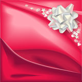 Bow and red fabric Stock Photo