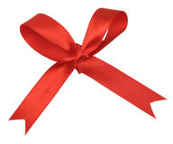 Bow of red ribbon Royalty Free Stock Photos