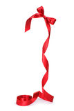 A bow of red ribbon Royalty Free Stock Images