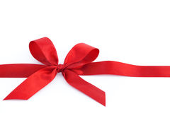 Bow on  red tape Royalty Free Stock Photo