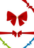 Bow red vector design element. Use for gift, Chris Royalty Free Stock Photos