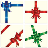 Bow and ribbon. Wrapping paper sheet, illustration Royalty Free Stock Photography