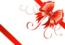 Bow and ribbon Stock Images