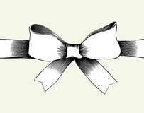 Bow with ribbon. Royalty Free Stock Image