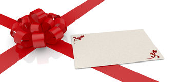 Bow and ribbon Royalty Free Stock Images