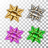 Bow ribbon christmas vector isolated Royalty Free Stock Photos
