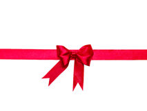 Bow, ribbon close-up Stock Images