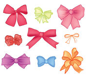 Bow ribbon  collection Stock Images