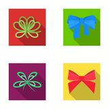 Bow, ribbon, decoration, and other web icon in flat style. Gift, bows, node, icons in set collection. Royalty Free Stock Image