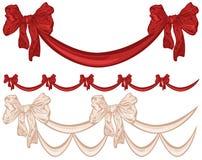 Bow ribbon garland Royalty Free Stock Photos