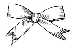 A bow ribbon gift Royalty Free Stock Photography