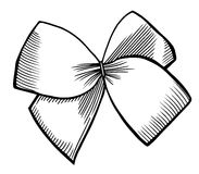 Bow with ribbon. Stock Photography