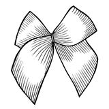 Bow with ribbon. Royalty Free Stock Photo