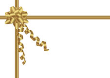 Bow and ribbon in gold Royalty Free Stock Images
