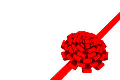 Bow & ribbon isolated Royalty Free Stock Image