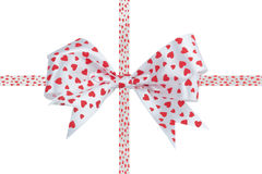 Bow ribbon isolated on white background Stock Images