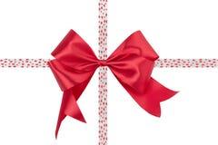 Bow ribbon isolated on white background Stock Photography