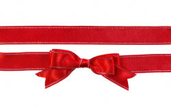 Bow and ribbon with metallic thread Royalty Free Stock Image