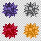 Bow ribbon set. Realistic holiday decorations for package gift. Vector. Bow ribbon set. Realistic holiday decorations for package gift. Vector illustration Stock Image