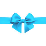 Bow with ribbon  on white background. Blue bow with ribbon  on white background. Realistic vector Stock Photography