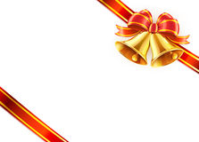 Bow and ribbon wrapped Stock Image