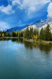 Bow River in Banff Stock Image