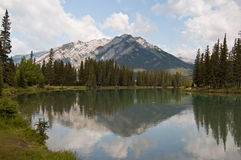 Bow River at Banff, Alberta, Canada Stock Image