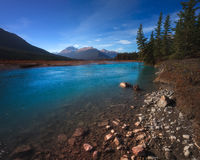 Bow River in Banff royalty free stock photos