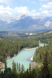 Bow River and Canadian Rockies, Canada Stock Images