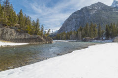 Bow River. Scenic look at Bow River in Banff Canada Royalty Free Stock Photography